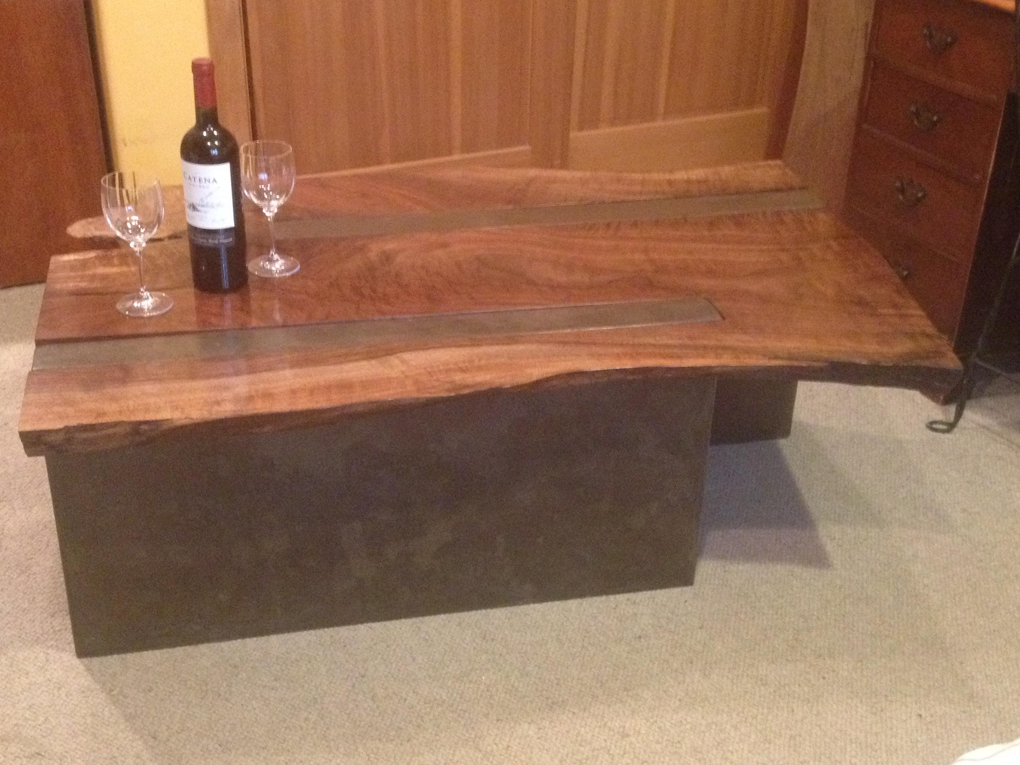Black Walnut Coffee Table Black Walnut Coffee Table W Concrete Legs Sawtoothwood